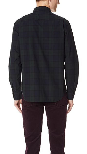 Club Monaco Slim Button Down Blackwatch Shirt
