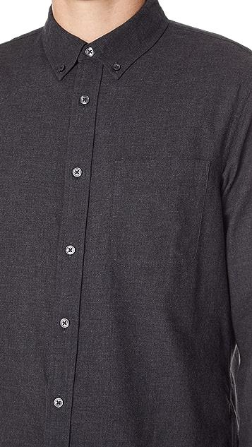 Club Monaco Flannel Solid Shirt