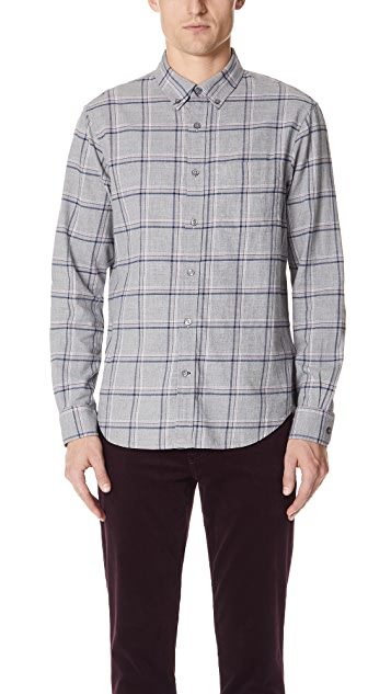 Club Monaco Flannel Windowpane Shirt
