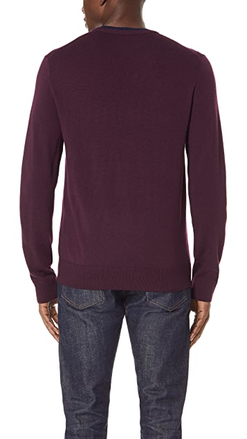 Club Monaco Merino Double Collar Sweater