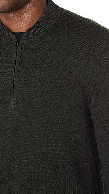 Club Monaco Merino Quarter Zip Pullover