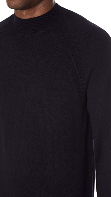 Club Monaco Merino Raglan Mock Neck Sweater