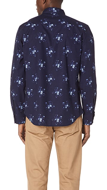 Club Monaco Slim Button Down Piccolo Shirt