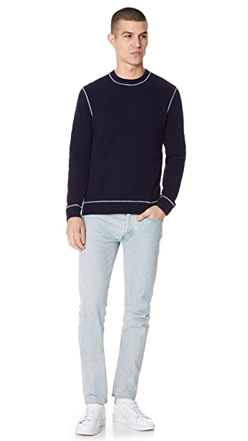 Club Monaco Textured Soft Wool Crew Sweater