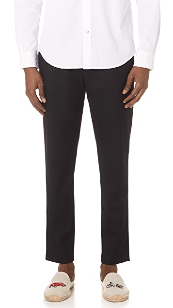 Club Monaco Pleated Twill Trousers
