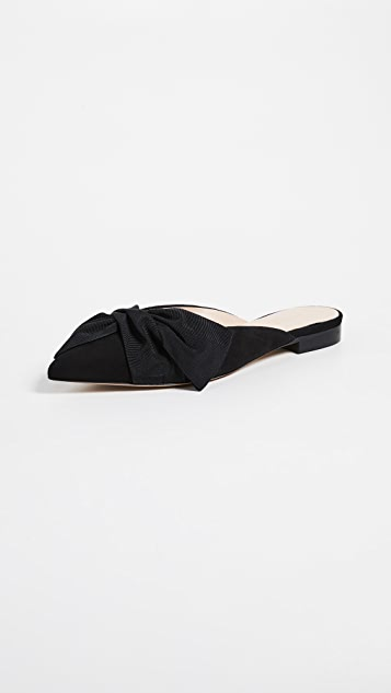 Club Monaco Matie Flat Slides - Black
