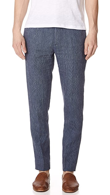 Club Monaco Sutton Striped Dress Trousers