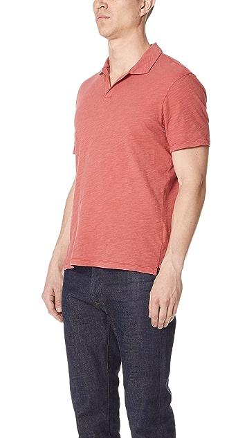 Club Monaco Slub Johnny Collar Polo Shirt