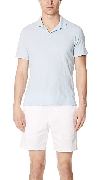 Club Monaco Slub Johnny Collar Polo Shirt