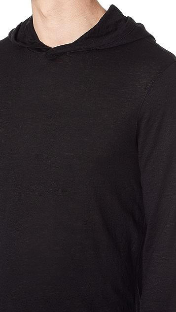 Club Monaco Long Sleeve Linen Hoodie