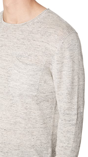 Club Monaco Linen Rollneck Sweater