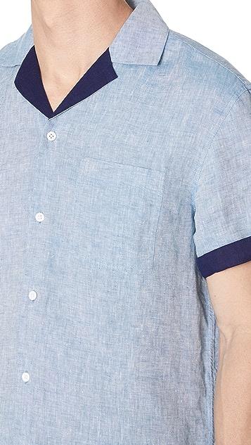 Club Monaco Contrast Linen Shirt