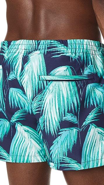 Club Monaco Arlen Palm Fronds Print Trunks