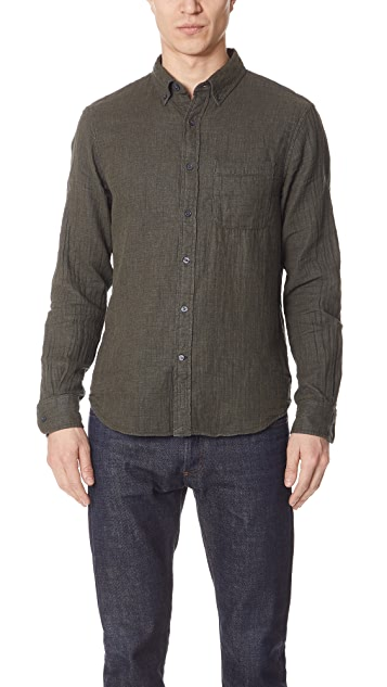 Club Monaco Double Face Solid Shirt