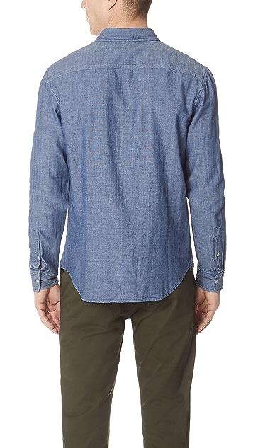 Club Monaco Double Face Indigo Shirt