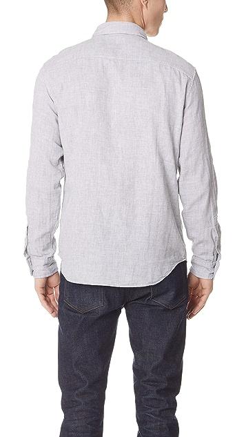 Club Monaco Double Face Grey Print Shirt