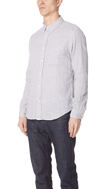 Club Monaco Double Face Grey Print Shirt