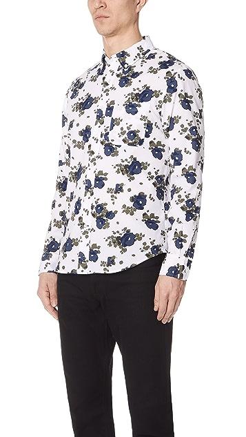 Club Monaco Slim Blooming Flower Shirt