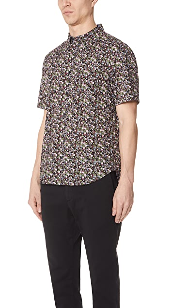 Club Monaco Button Down Floral Shirt