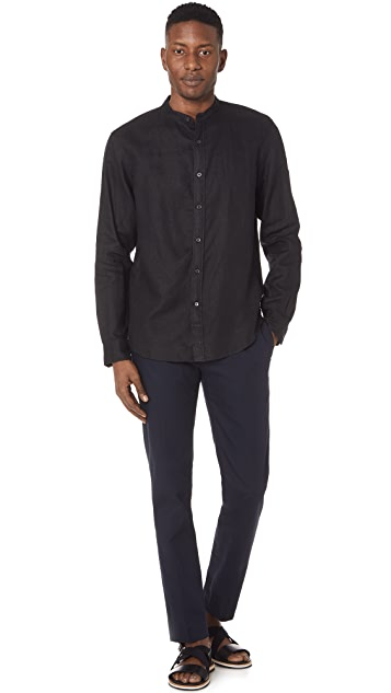 Club Monaco Linen Solid Shirt