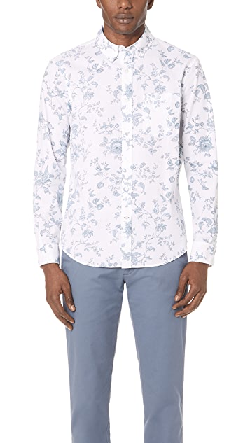 Club Monaco Slim Floral Shirt