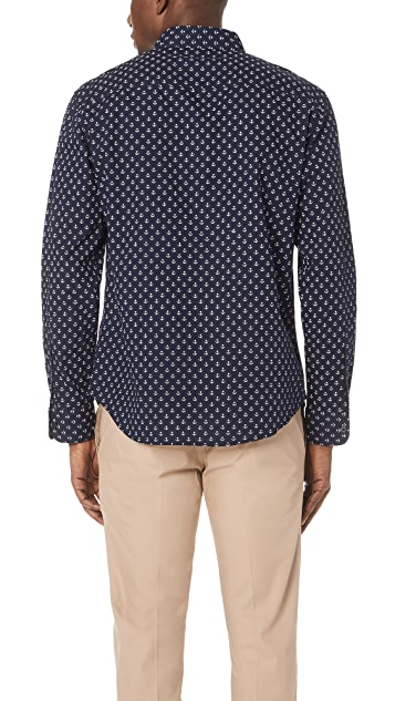 Club Monaco Slim Anchor Shirt