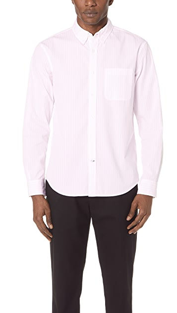 Club Monaco Slim Soft Stripe Shirt