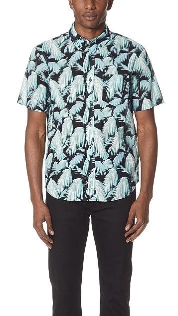 Club Monaco Short Sleeve Palm Fronds Shirt