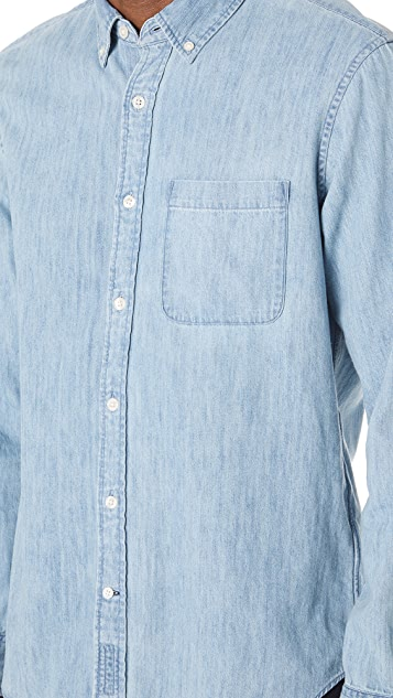 Club Monaco Slim Button Down Denim Shirt