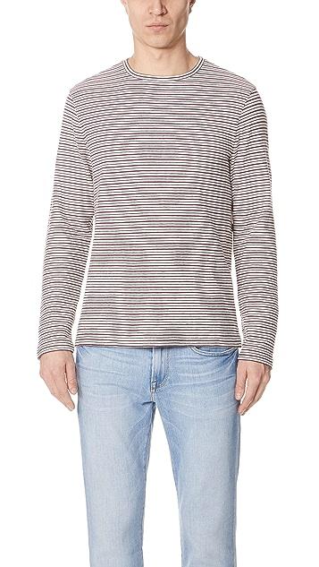 Club Monaco Long Sleeve Multi Stripe Shirt