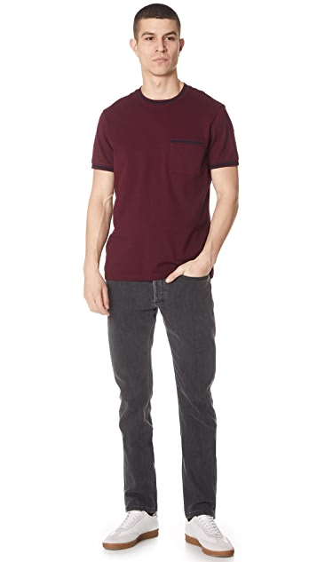 Club Monaco Short Sleeve Pique Tee