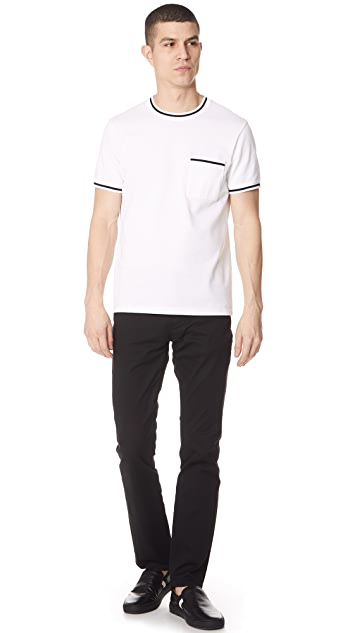 Club Monaco Short Sleeve Pique Crew Tee