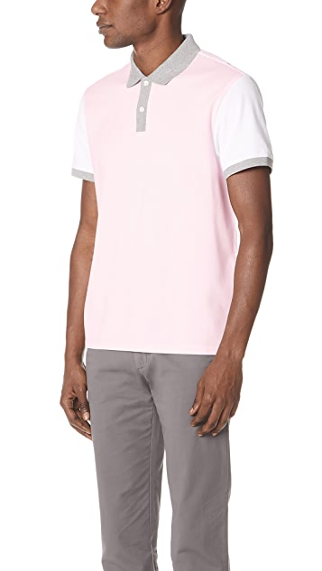 Club Monaco Colorblock Polo Shirt