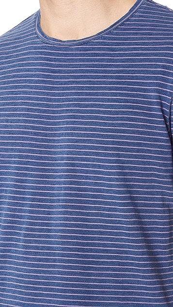 Club Monaco Narrow Indigo Stripe Tee