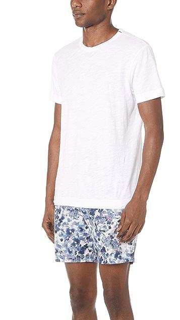 Club Monaco Short Sleeve Slub Tee