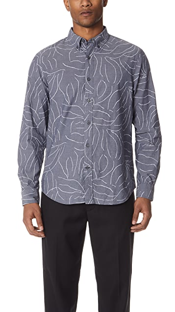 Club Monaco Abstract Chambray Shirt