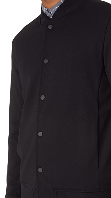 Club Monaco Clean Varsity Bomber Jacket