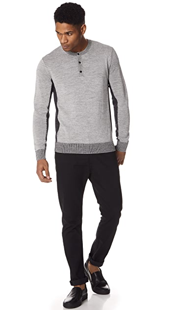 Club Monaco Plaited Block Henley