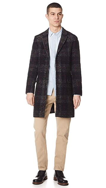 Club Monaco Check Topcoat
