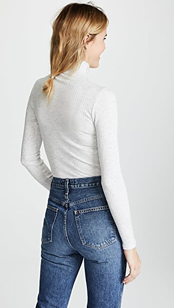Club Monaco Julie Rib Turtleneck Sweater