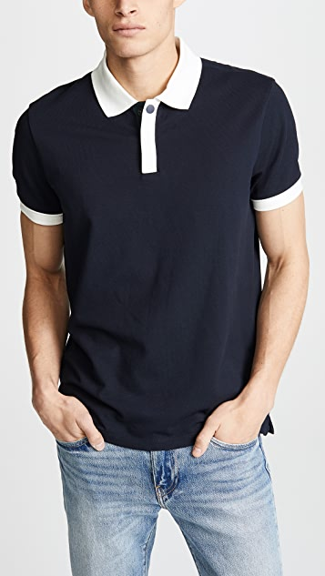 Club Monaco Piped Shoulder Polo Shirt