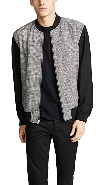 Club Monaco Glen Plaid Bomber Jacket