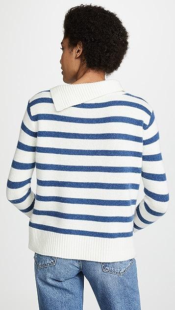 Club Monaco Кашемировый свитер в полоску Billie
