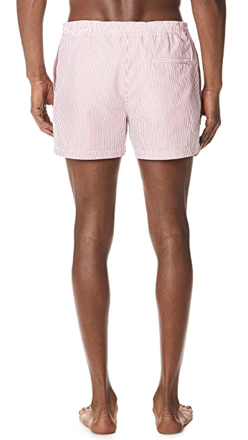 Club Monaco Arlen Seersucker Swim Shorts