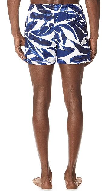 Club Monaco Arlen Matisse Leaves Swim Shorts