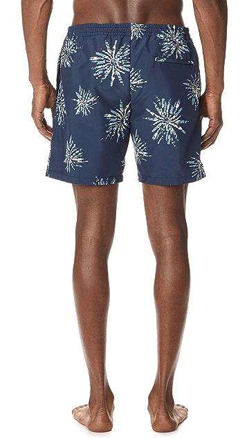 Club Monaco Bo Sunburst Swim Shorts