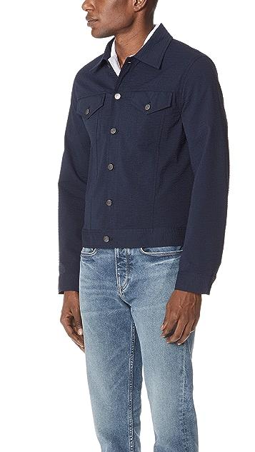 Club Monaco Seersucker Trucker Jacket