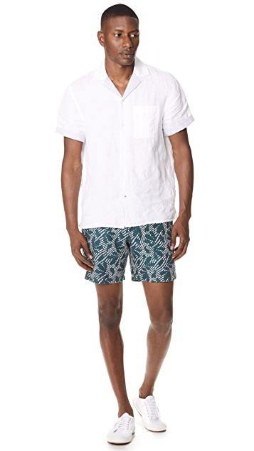 Club Monaco Baxter Zigzag Shorts