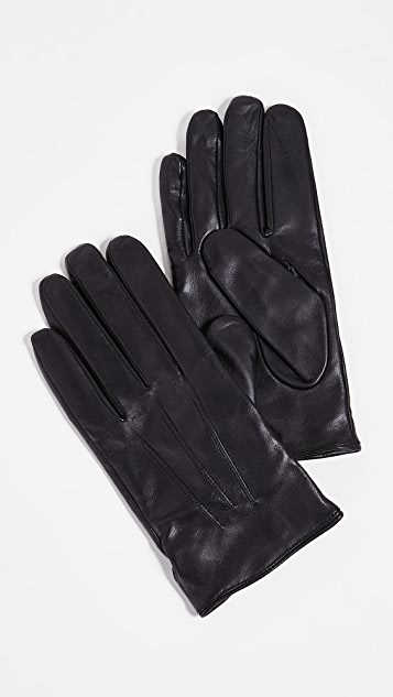 Club Monaco Leather Snap Gloves