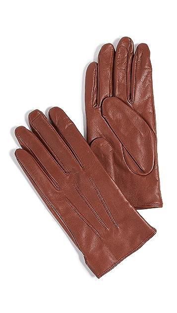Club Monaco Leather Snap Gloves